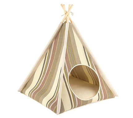 Teepee Tent Pet Bed- Seacoast - Le Pet Luxe