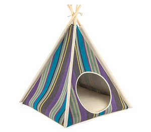 Teepee Tent Pet Bed- Lake - Le Pet Luxe