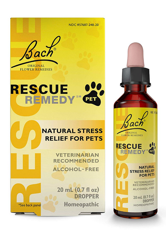 Rescue Remedy Stress Relief Pet Supplement **20ml drops - le-pet-luxe
