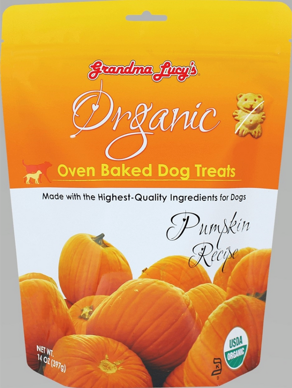 Organic Pumpkin Oven-Baked Dog Treats - le-pet-luxe