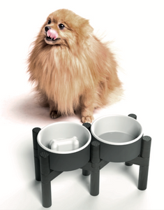 Pine Wood Bowl Stand ~ Medium - le-pet-luxe