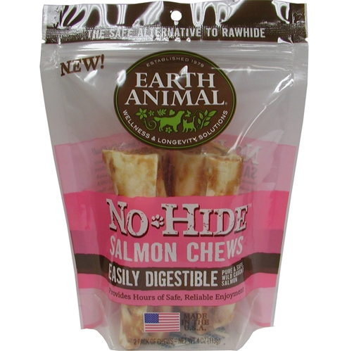 Earth Animal No Hide Salmon Chew Dog Treats - Le Pet Luxe