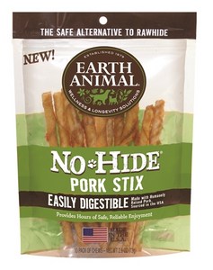Earth Animal No Hide Pork Stix Dog Treats - 10 Pack - Le Pet Luxe