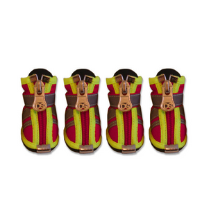 Reflector Dog Boots - Fire Engine Red - Le Pet Luxe