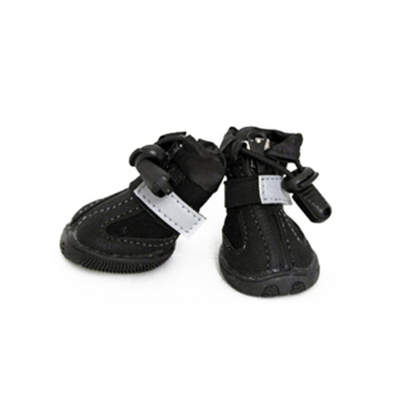 All Weather Dog Boots - Black - le-pet-luxe