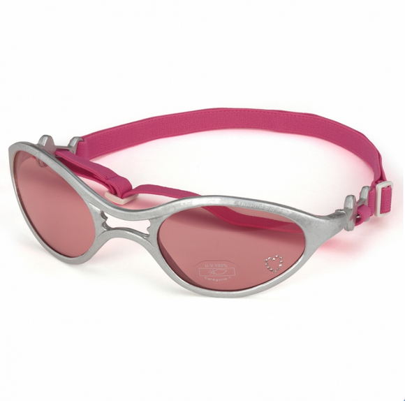 Sunglasses Rubber ~ Silver Frame/Pink Lens - Le Pet Luxe