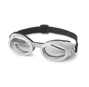 Interchangeable Lens Dog Sunglasses ~ Silver Frame with Clear Lens - Le Pet Luxe