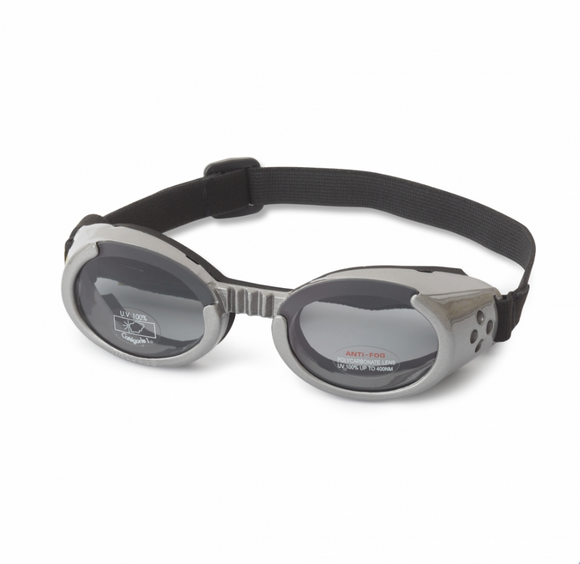 Interchangeable Lens Dog Sunglasses ~ Gray Frame with Smoke Lens - le-pet-luxe