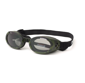 Interchangeable Lens Dog Sunglasses ~ Camo Frame with Smoke Lens - Le Pet Luxe