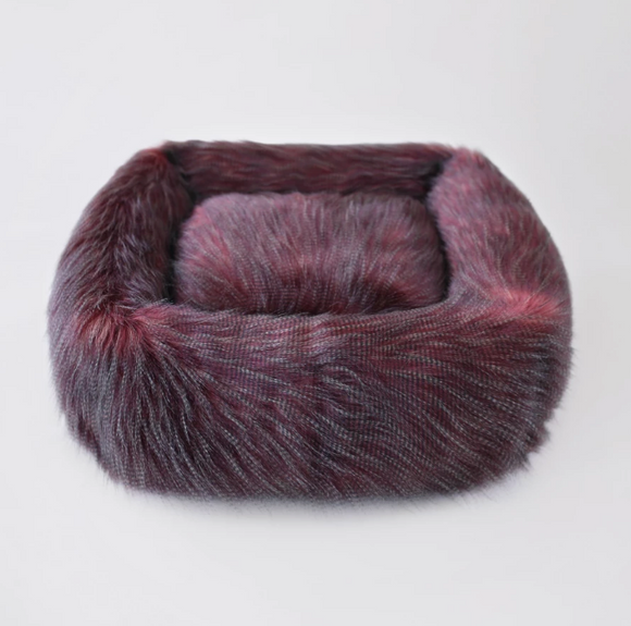 Exotic Ostrich Dog Bed - Le Pet Luxe