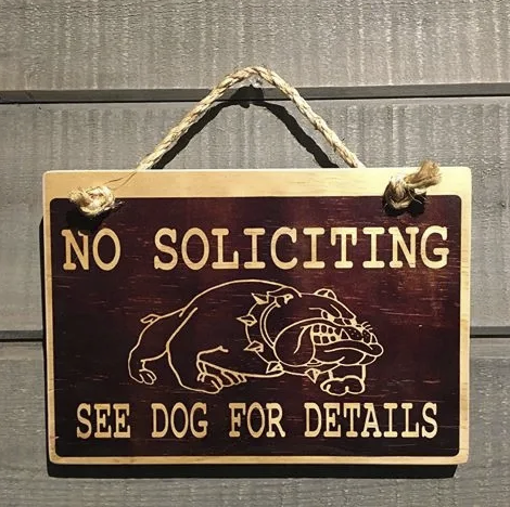 No soliciting - Le Pet Luxe
