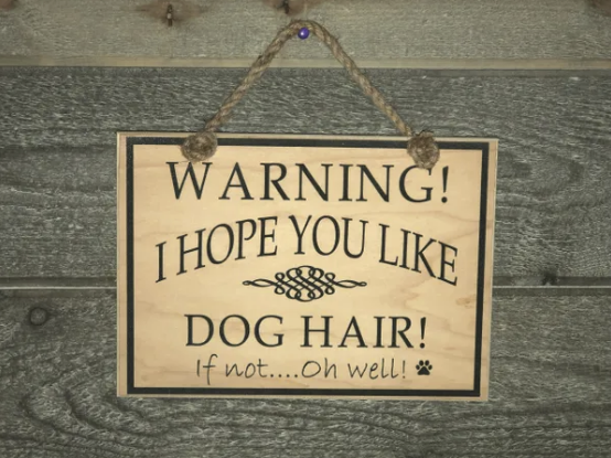 Warning dog hair - Le Pet Luxe