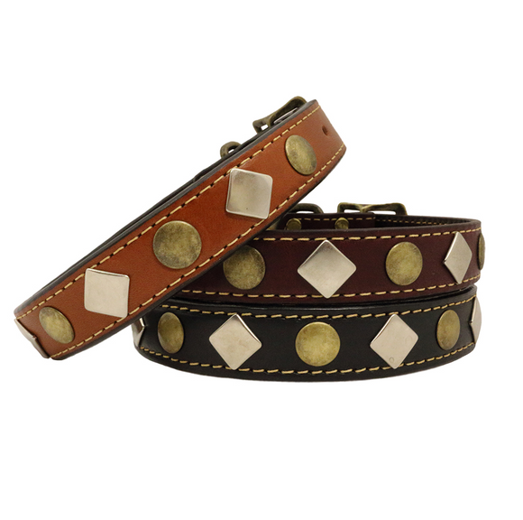 Heirloom Studded Dog Collar - Le Pet Luxe