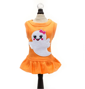 Ms. Boo Dress - Orange - Le Pet Luxe