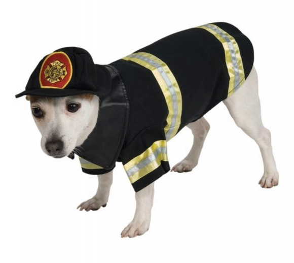 Fire Fighter Dog Costume - Le Pet Luxe