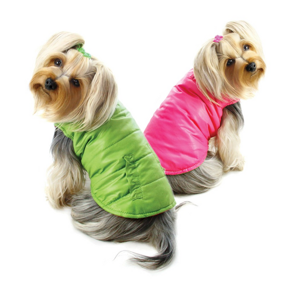 Reversible Parka Vest With Ruffle Trims - Le Pet Luxe