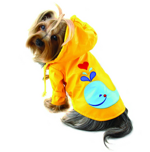 Splashing Whale Raincoat With Cotton Lining - Le Pet Luxe