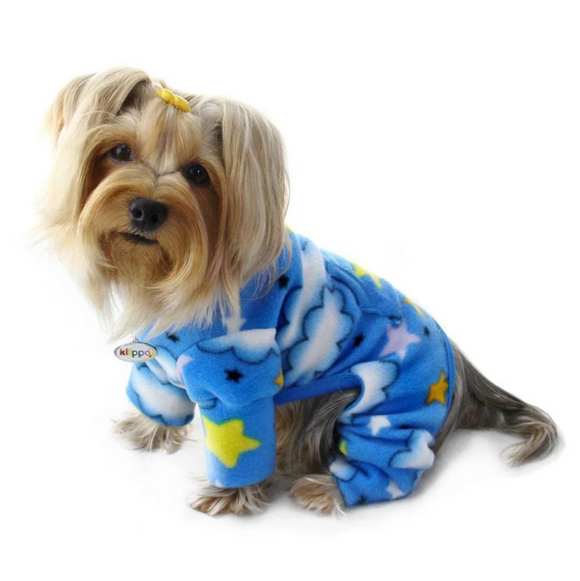 Stars and Clouds Fleece Turtleneck Pajamas - le-pet-luxe