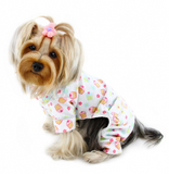 Cupcakes Fanatics Flannel Dog PJ with 2 Pockets - Le Pet Luxe