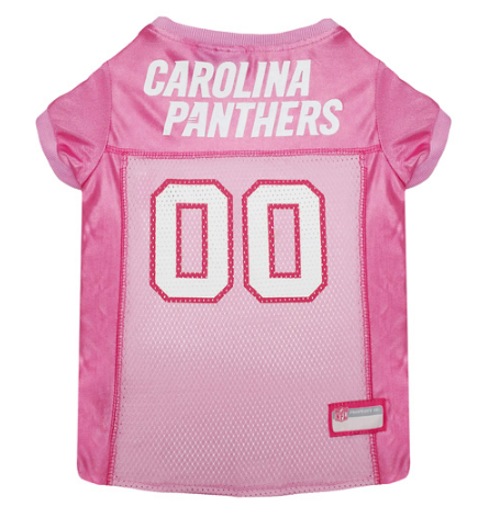 Carolina Panthers - Pink Mesh Jersey - Le Pet Luxe
