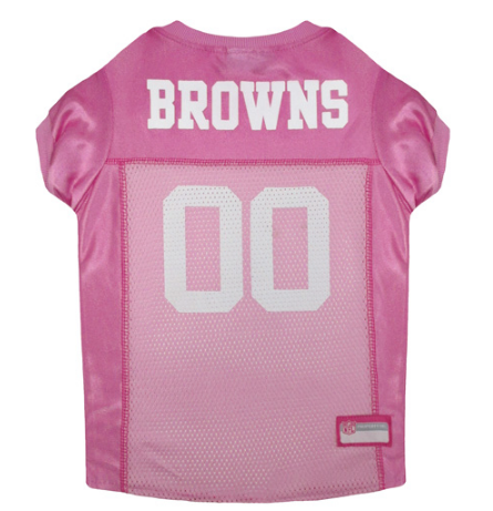 Cleveland Browns - Pink Mesh Jersey - le-pet-luxe