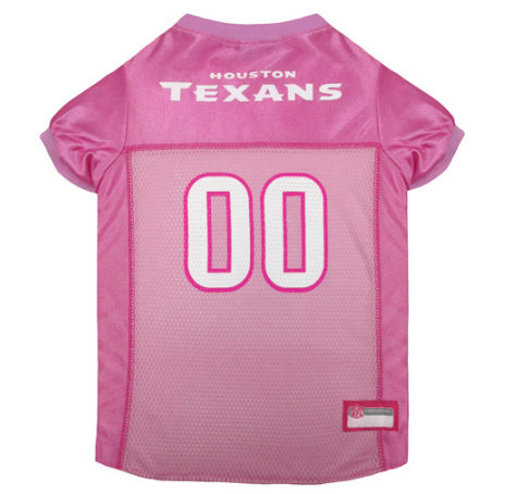 Houston Texans - Pink Mesh Jersey - Le Pet Luxe