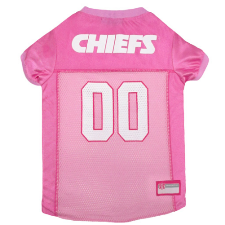 Kansas City Chiefs - Pink Mesh Jersey - Le Pet Luxe