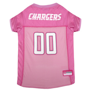 Los Angeles Chargers  - Pink Mesh Jersey - Le Pet Luxe