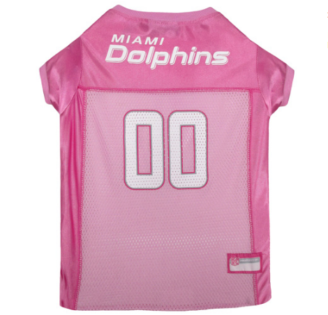 Miami Dolphins - Pink Mesh Jersey - Le Pet Luxe