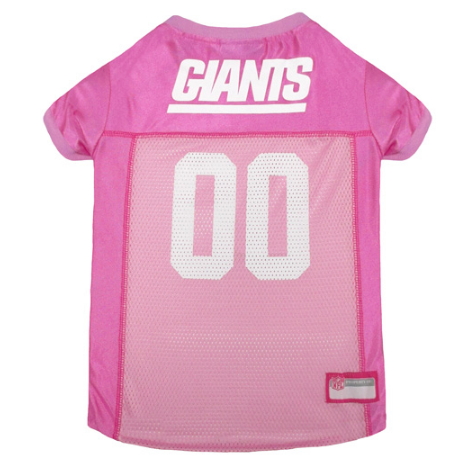 New York Giants - Pink Mesh Jersey - Le Pet Luxe