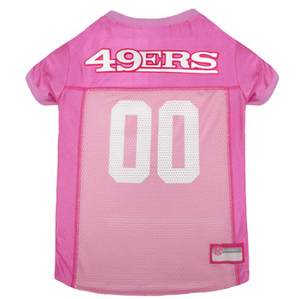 San Francisco 49ers - Pink Mesh Jersey - Le Pet Luxe
