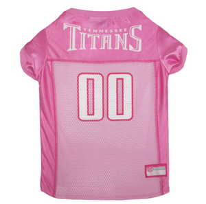 Tennessee Titans - Dog Pink Mesh Jersey - Le Pet Luxe