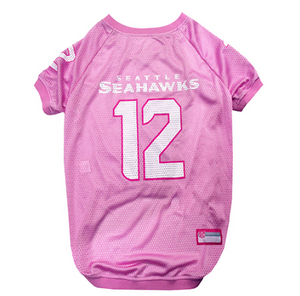 Seattle Seahawks - 12th Man Pink Dog Mesh Jersey - Le Pet Luxe