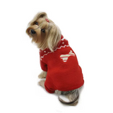 Candy Cane Bone Holiday Sweater Bodysuit - Le Pet Luxe