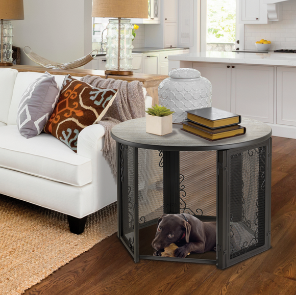 Accent Table Pet Crate - Le Pet Luxe