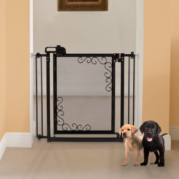 One-Touch Metal Mesh Pet Gate - Le Pet Luxe