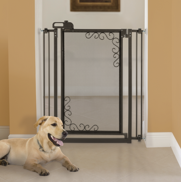 Tall One-Touch Metal Mesh Pet Gate - Le Pet Luxe