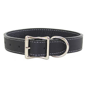 Tuscan Leather Dog Collar ~ Natural Colors - Le Pet Luxe