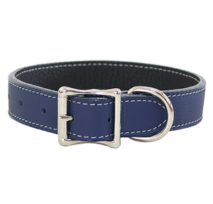 Tuscan Leather Dog Collar ~ Fun Colors - Le Pet Luxe