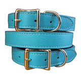 Tuscan Leather Dog Collar ~ Pastel Colors - Le Pet Luxe