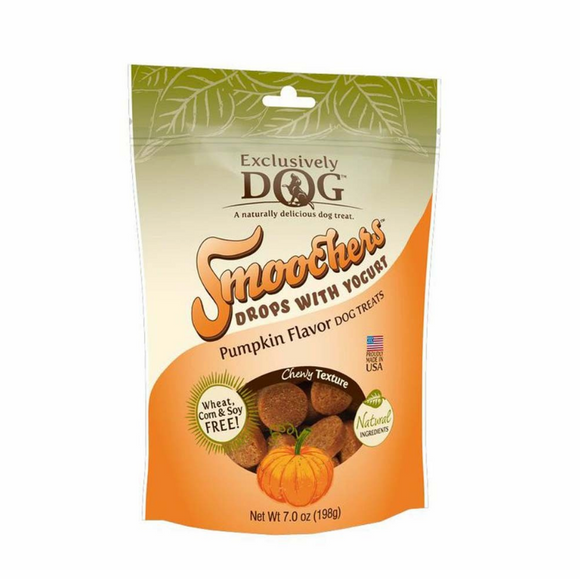 Exclusively Pet Smoochers Yogurt Drops Pumpkin Flavor Dog Treats 7oz - le-pet-luxe