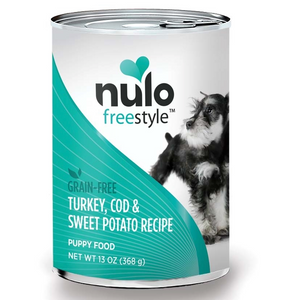 Nulo FreeStyle Puppy Dog Grain Free ~ Turkey Cod Sweet Potato (case of 12) - Le Pet Luxe