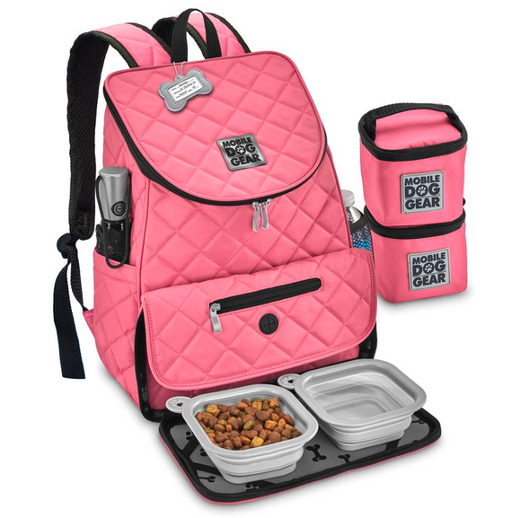 Weekender Backpack ~ Pink (All Size Dogs) - le-pet-luxe