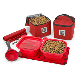 Dine Away Food Set (Medium/Large Dogs) - Le Pet Luxe