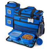 Rolling Week Away with Telescopic Handle ~ Blue - Le Pet Luxe