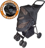 Happy Trails LITE No Zip Pet Stroller ~ Jaguar - Le Pet Luxe