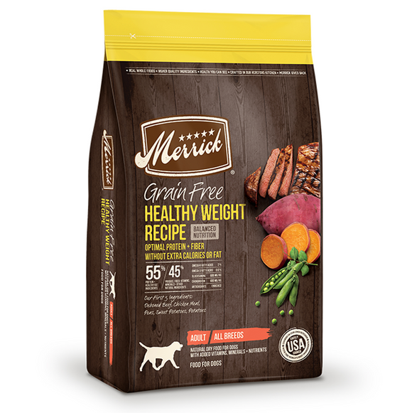 Merrick Grain Free Healthy Weight Recipe - Le Pet Luxe