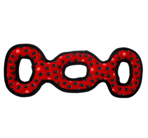 3 Way Tug Dog Toy ~ Red - Le Pet Luxe