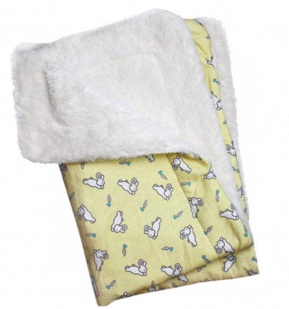 Hopping Bunny Flannel/Ultra-Plush Blanket - Le Pet Luxe