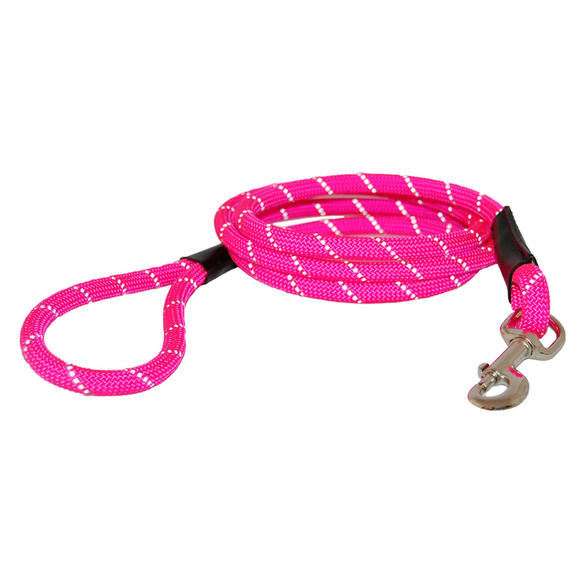 Reflective Rope Leash ~ Pink - Le Pet Luxe